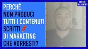 Contenuti scritti di marketing