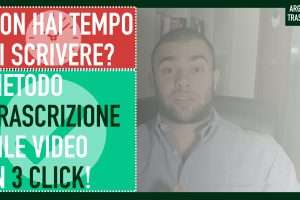 trascrizione file video